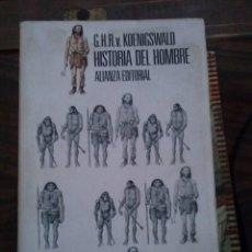 Libros de segunda mano: HISTORIA DEL HOMBRE. KOENIGSWALD.. Lote 54854221