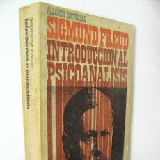 Libros de segunda mano: INTRODUCCION AL PSICOANALISIS,SIGMUND FREUD,1968,ALIANZA ED,REF BS42. Lote 54942485