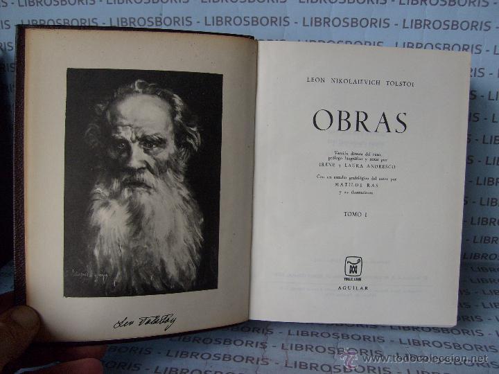 Libros de segunda mano: TOLSTOI - 2 TOMOS - OBRAS - AGUILAR - OBRAS ETERNAS - Foto 3 - 54945474
