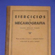 Libros de segunda mano: EJERCICIOS DE MECANOGRAFÍA POR MANUEL RIPOLLÉS. ED. RIPOLLÉS. Lote 54991350