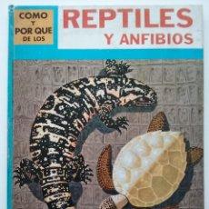 Libros de segunda mano: COMO Y POR QUE DE LOS REPTILES Y ANFIBIOS - EDITORIAL MOLINO - 1970. Lote 55017778