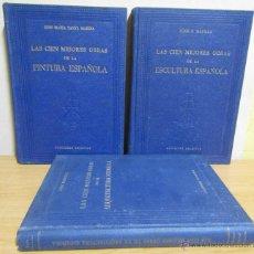 Libros de segunda mano: 3 LIBROS LAS CIEN MEJORES OBRAS DE -PINTURA-ESCULTURA-ARQUITECTURA ESPAÑOLA TODOS EN 1ª EDICION. Lote 55039652