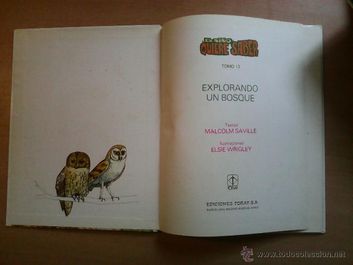 Libros de segunda mano: El niño quiere saber explorando un bosque Malcolm Saville ed. Toray - Foto 3 - 55050028