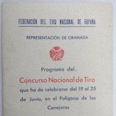 Libros de segunda mano: FEDERACIÓN DEL TIRO NACIONAL DE ESPAÑA. CONCURSO NACIONAL DE TIRO. 1944. Lote 55076055