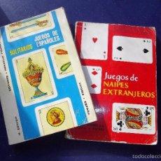 Libros de segunda mano: LOTE LIBRO JUEGOS ESPAÑOLES SOLITARIOS NAIPES EXTRANJEROS HERACLIO FOURNIER VITORIA BARAJA CARTAS. Lote 55327721