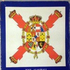 Libros de segunda mano: ALMIRALL: LAS BANDERAS ESPAÑOLAS DE 1704 Á 1977. 154 FIGURAS EN TEXTO. (2 CARTAS, UNA DEL AUTOR. Lote 55396382