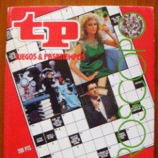 Libros de segunda mano: REVISTA TP EXTRA 1987 FILMOTECA--CRUCIGRAMA-CÁBALA-JUEGO VISUAL-AUTODEFINIDO NUEVO. Lote 105793804