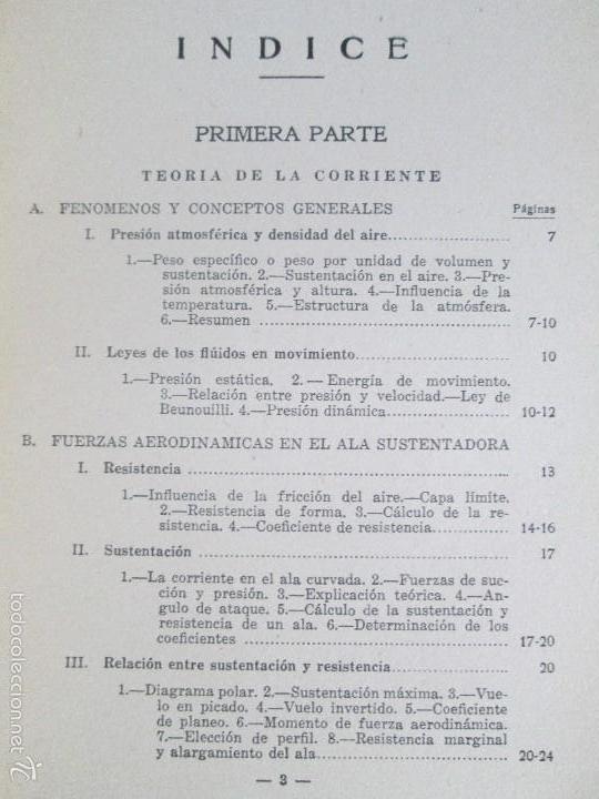 Libros de segunda mano: TEORIA DEL VUELO Y DEL AVION. INSTRUCCION AERONAUTICA PREMILITAR. 1942. VER FOTOGRAFIAS ADJUNTAS - Foto 7 - 55684198
