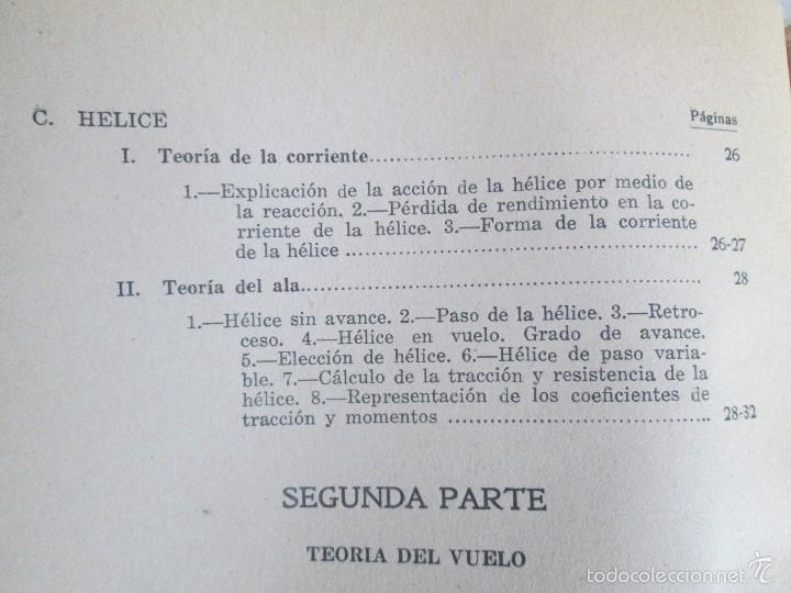 Libros de segunda mano: TEORIA DEL VUELO Y DEL AVION. INSTRUCCION AERONAUTICA PREMILITAR. 1942. VER FOTOGRAFIAS ADJUNTAS - Foto 8 - 55684198