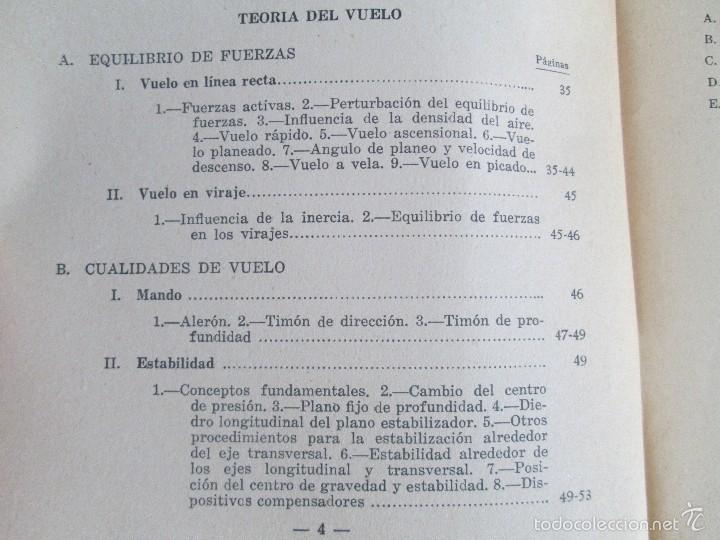 Libros de segunda mano: TEORIA DEL VUELO Y DEL AVION. INSTRUCCION AERONAUTICA PREMILITAR. 1942. VER FOTOGRAFIAS ADJUNTAS - Foto 9 - 55684198