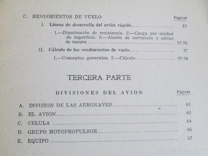 Libros de segunda mano: TEORIA DEL VUELO Y DEL AVION. INSTRUCCION AERONAUTICA PREMILITAR. 1942. VER FOTOGRAFIAS ADJUNTAS - Foto 10 - 55684198