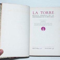 Libros de segunda mano: LA TORRE - REVISTA GENERAL DE LA UNIVERSIDAD DE PUERTO RICO // 1956, Nº 15-16. Lote 55688960