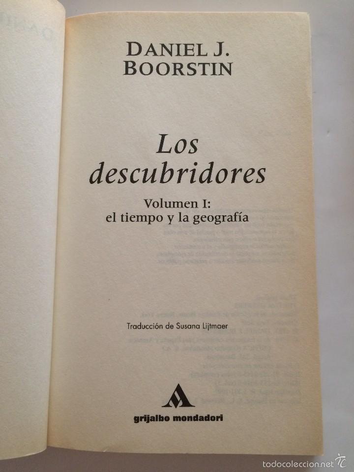 Libros de segunda mano: Boorstin - Los Descubridores - Ed Critica 2 tomos - Foto 3 - 55714329