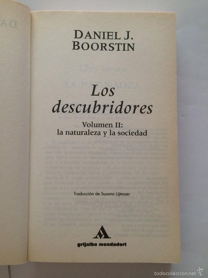 Libros de segunda mano: Boorstin - Los Descubridores - Ed Critica 2 tomos - Foto 6 - 55714329