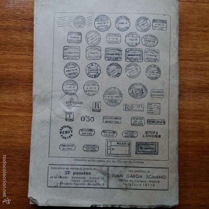 Libros de segunda mano: CONTESTACIONES ADAPTADAS PROGRAMA LEGISLACION DE CORREOS. CUERPO MIXTO DE AUXILIARES 1942 - Foto 5 - 55884603