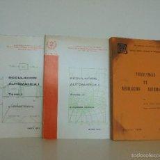 Libros de segunda mano: E. ANDRES PUENTE. REGULACION AUTOMATICA I Y II. PROBLEMAS DE REGULACION AUTOMATICA. RAFAEL ARACIL.... Lote 55888445
