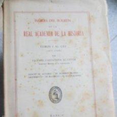 Libros de segunda mano: ÍNDICES DEL BOLETIN DE LA REAL ACADEMIA DE LA HISTORIA TOMOS 1 AL 155 ( 1877-1944) VOL 2 AÑO 1947. Lote 55925039