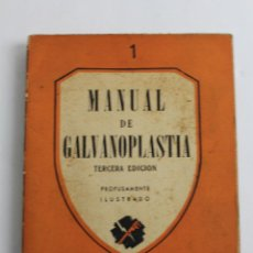 Libros de segunda mano - L-1328. MANUAL DE GALVANOPLASTIA EDITORIAL PAN AMERICA 1944 - 55930761