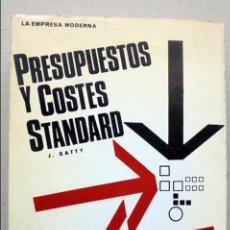 Libros de segunda mano: PRESUPUESTOS Y COSTES STANDARD--LA EMPRESA MODERNA--. Lote 55935784