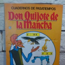 Libros de segunda mano: DON QUIJOTE DE LA MANCHA - CUADERNOS DE PASATIEMPOS - ORIGINAL DE 1979 - Nº 2 - BRUGUERA - SIN USAR. Lote 55937825