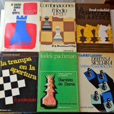 Libros de segunda mano: 13 LIBROS DE AJEDREZ, DE MARTINEZ ROCA COLECCIÓN ESCAQUES Y BRUGUERA, DIFERENTES AÑOS Y EDICIONES.. Lote 56004668