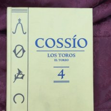 Libros de segunda mano: COSSÍO - TOMO 4 - LOS TOROS Y EL TOREO - ESPASA - 2007 - 703 PÁGS. Lote 56018360