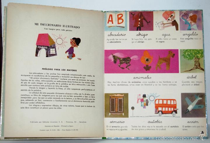 Libros de segunda mano: MI DICCIONARIO ILUSTRADO-COLECCIÓN CAMPANILLA-EDITORIAL JUVENTUD 1962 - Foto 4 - 56093302