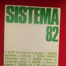Libros de segunda mano: SISTEMA 82. Lote 129135944