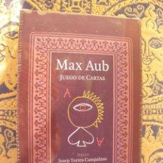 Libros de segunda mano: NOVELA JUEGO DE CARTAS, MAX AUB 1964, BARAJA DE NAIPES LITERARIA NUEVA Y PRECINTADA. Lote 56159594