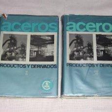 Libros de segunda mano: LIBROS ACERO PRODUCTOS Y DERIVADOS - TOMOS I Y II - COMPILADOS POR COSIMET.. Lote 56167214