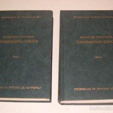 Libros de segunda mano: HOMENAXE Ó PRODESOR CONSTANTINO GARCÍA. DOS TOMOS. RM74067. . Lote 56177675