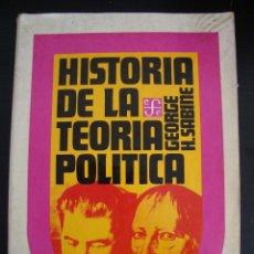Libros de segunda mano: HISTORIA DE LA TEORICA POLITICA. 1945 MEXICO. GEORGE H. SABINE. . Lote 56205916