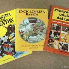 Libros de segunda mano: 3 LIBROS, ENCICLOPEDIA DE LOS INVENTOS, REPARACIONES DEL HOGAR Y CASA Y ENCICLOPEDIA BÁSICA. Lote 56234242