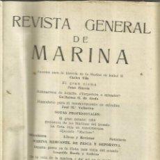 Libros de segunda mano: REVISTA GENERAL DE MARINA. 6 NÚMEROS ENCUADERNADOS. MADRID. AÑO 1954. Lote 56250624