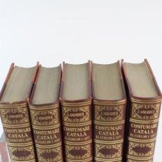 Libros de segunda mano: L-3565. COSTUMARI CATALÀ. EL CURS DE L'ANY. JOAN AMADES.5 VOLUMS. EDIT SALVAT, 1950.1ª EDICIÓ. PELL.. Lote 56271835