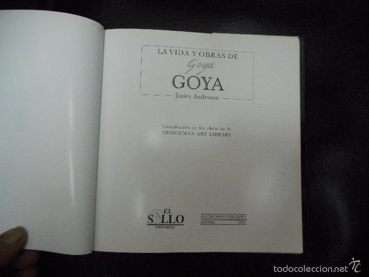 Libros de segunda mano: libro la vida y obras de goya 1996 - Foto 2 - 56307867