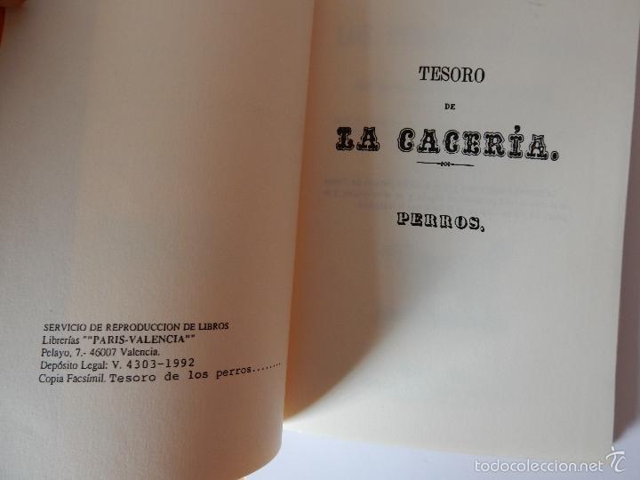 Libros de segunda mano: FACSIMIL. TESORO DE LOS PERROS DE CAZA - Foto 3 - 56316513
