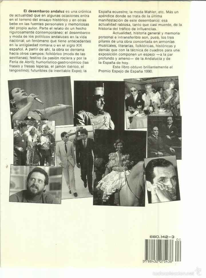 Libros de segunda mano: EL DESEMBARCO ANDALUZ. VÍCTOR MÁRQUEZ REVIRIEGO. PLANETA. BARCELONA. 1990 - Foto 3 - 56428738