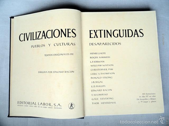 Libros de segunda mano: HISTORIA DE LAS CIVILIZACIONES - CIVILIZACIONES EXTINGUIDAS. Gran formato. - Foto 12 - 9988657