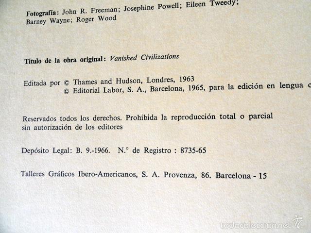 Libros de segunda mano: HISTORIA DE LAS CIVILIZACIONES - CIVILIZACIONES EXTINGUIDAS. Gran formato. - Foto 13 - 9988657