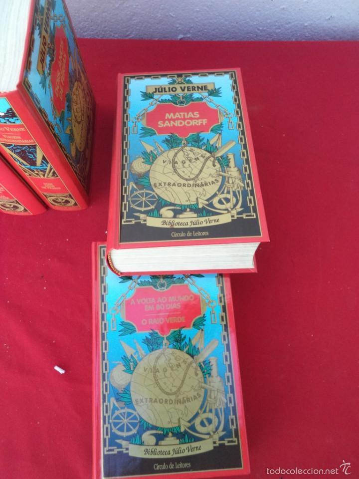 Libros de segunda mano: 12 tomos de julio vernes 1997 en portugues - Foto 2 - 56488130