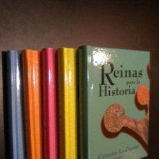 Libros de segunda mano: REINAS PARA LA HISTORIA / 5 TOMOS / CLUB INTERNACIONAL DEL LIBRO. Lote 56676283