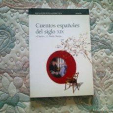 Libros de segunda mano: CUENTOS ESPAÑOLES DEL SIGLO XIX, CLARIN, PARDO BAZAN...(NUEVA BIBLIOTECA DIDACTICA ANAYA). Lote 56688110