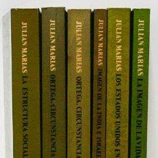 Libros de segunda mano: MARÍAS, JULIÁN: COLECCIÓN 'EL ALCIÓN' DE OBRAS COMPLETAS (7 VOLS.) (REVISTA DE OCCIDENTE) (CB). Lote 56721234