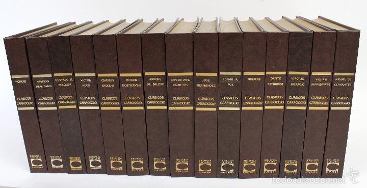 L-3762 COLECCION CLASICOS CARROGGIO 15 TOMOS AÑOS 1972-79 (Libros de Segunda Mano - Bellas artes, ocio y coleccionismo - Otros)