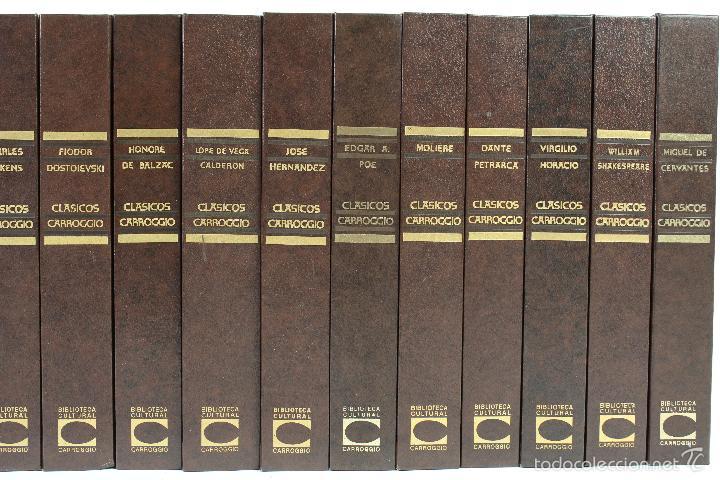Libros de segunda mano: L-3762 COLECCION CLASICOS CARROGGIO 15 TOMOS AÑOS 1972-79 - Foto 3 - 56734463