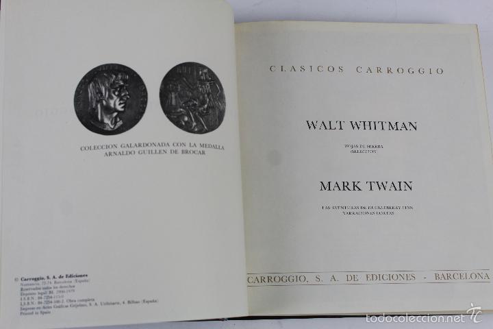 Libros de segunda mano: L-3762 COLECCION CLASICOS CARROGGIO 15 TOMOS AÑOS 1972-79 - Foto 6 - 56734463