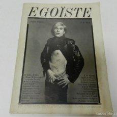 Libros de segunda mano: MAGAZINE EGOISTE N 10 ANDY WARHOL RICHARD AVEDON SHOWING SCARS ED LIMITADA 1987 VALERIE SOLANAS. Lote 56750127