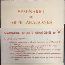 Libros de segunda mano: SEMINARIO DE ARTE ARAGONES Nº V. 1953.. Lote 56753804