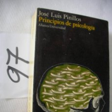 Libros de segunda mano: PRINCIPIOS DE PSICOLOGIA - JOSE LUIS PINILLOS. Lote 56860331